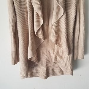 White House Black Market Sweaters - WH|BM WATERFALL OPEN FRONT CARDIGAN LONG SLEEVE
